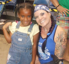 "Photo: then Lady Fury poses ""pretty"" with Kaleya"