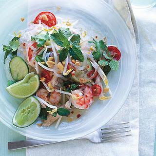 Thai Chicken and Shrimp Noodle Salad