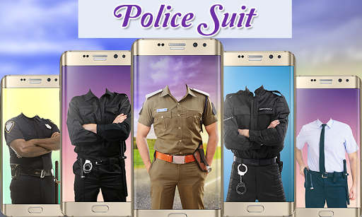 Police Suit Photo Frames - Picture & Image Editor screenshot 1