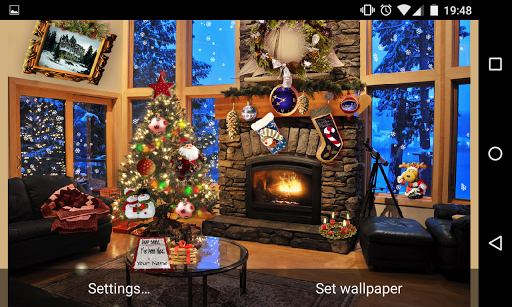 Christmas Fireplace LWP Full screenshot 16
