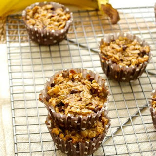 Chocolate Peanut Butter Banana Oatmeal Cups