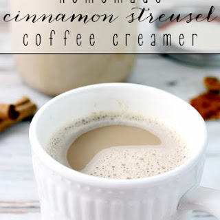 Homemade Cinnamon Streusel Coffee Creamer