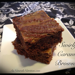 Swirly Caramel Brownies - Au Naturale!