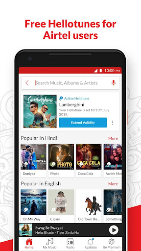 Wynk Music - Download & Play Songs, MP3, HelloTune 3.2.2.0 screenshots 2
