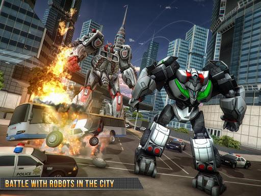 Télécharger Real Gangster Robot Car Transform Game 2020 APK MOD (Astuce) screenshots 6