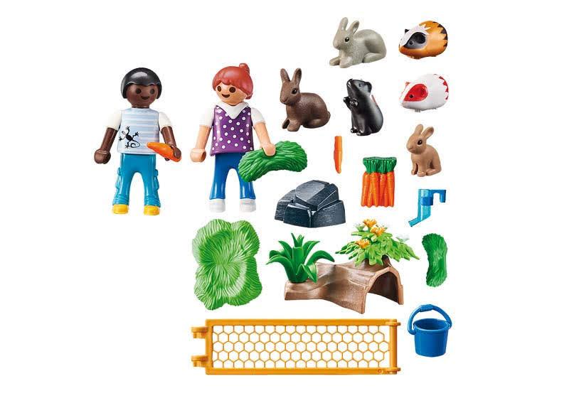 Contenido real de Playmobil® 70137 Recinto Animales Granja