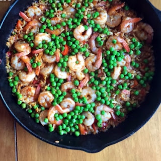 Shrimp And Pea Paella