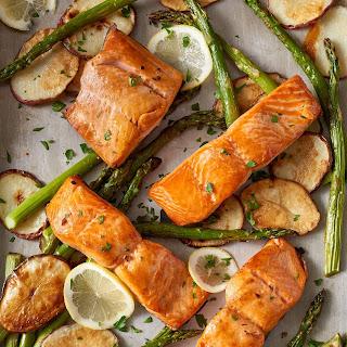 Sheet Pan Crispy Salmon and Potatoes Recipe
