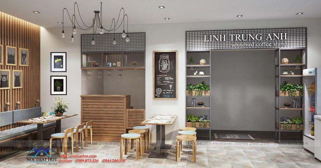 thiết kế quán cafe nhỏ tại Gia Lâm