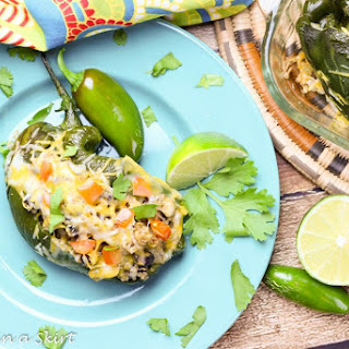 Vegetarian Stuffed Poblano Peppers.