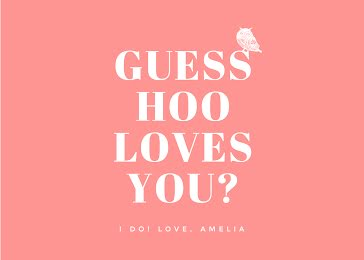 Guess Hoo Loves You? - Valentine's Day Card Template
