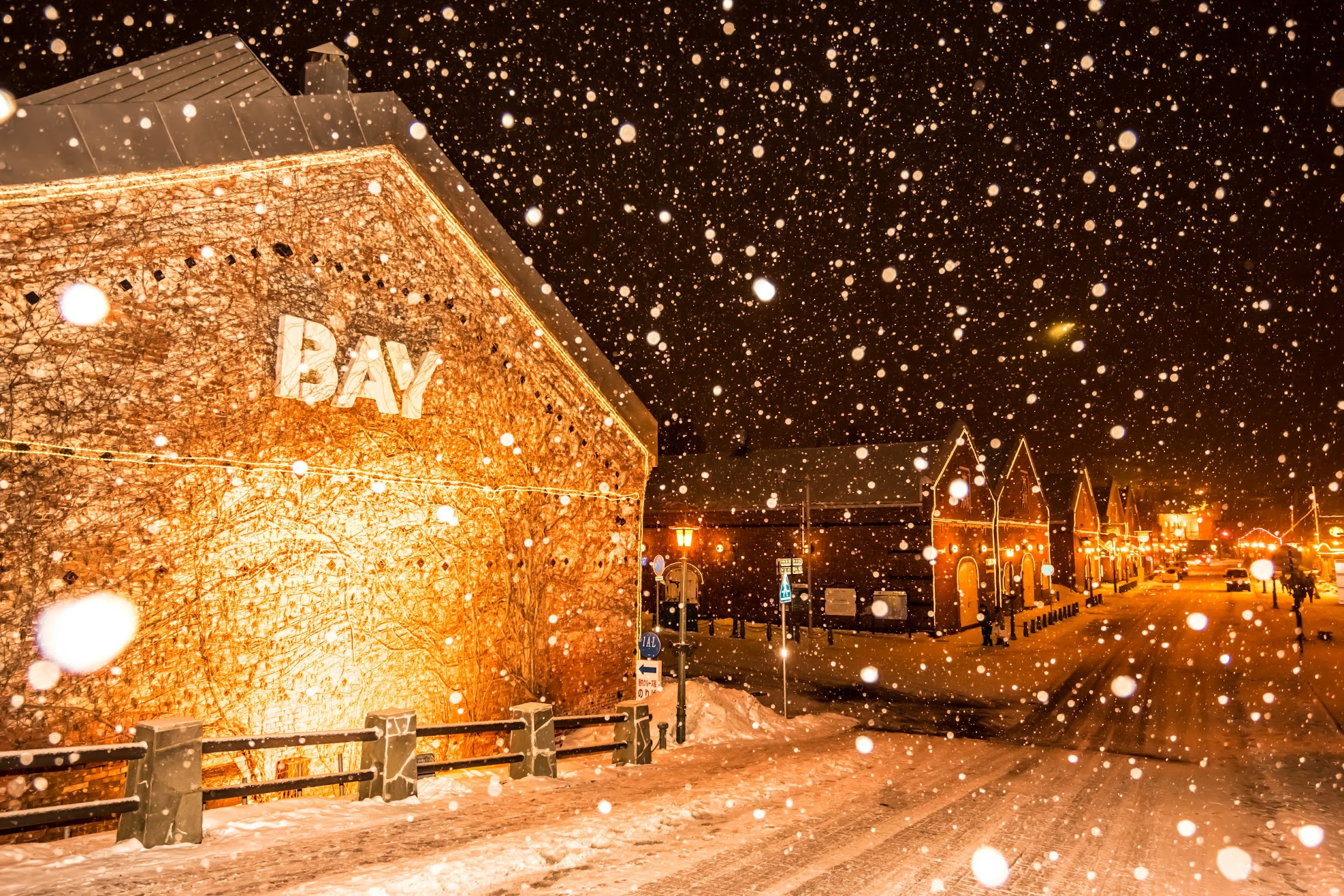 Hakodate Kanemori Red Brick Warehouse snow2