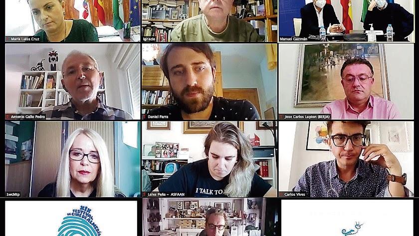Captura de la videoconferencia realizada.