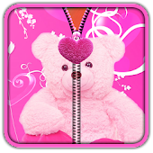 Pink Teddy Bear Zipper UnLock