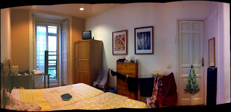 Photo: Residencia Alvaro.  Slumming it at a hostel again.  Note the laundry hanging, no A/C but the fans feel quite good, shared bathrooms, etc.