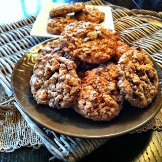 Whole Wheat Oatmeal Chocolate Chip Cookies.