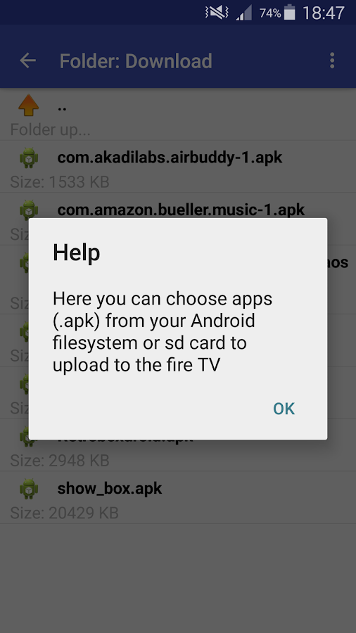 Apps2Fire (Original)- screenshot