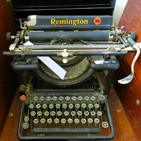 Remington Typewriter  by Rita Goebert - Artistic Objects Business Objects ( remington typewriter; hand operated; manual typewriter; 1951; office model;,  )