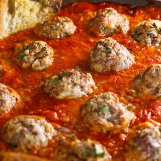 Roast Meatballs and Tomato-Tarragon Sauce.