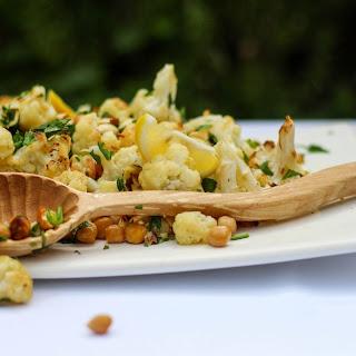 Roasted Cauliflower, Chickpea and Almond Salad