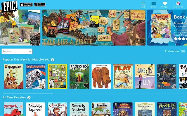 epic is the only all you can read ebook library for kids 12 and under with unlimited access to over 10000 high quality kids books