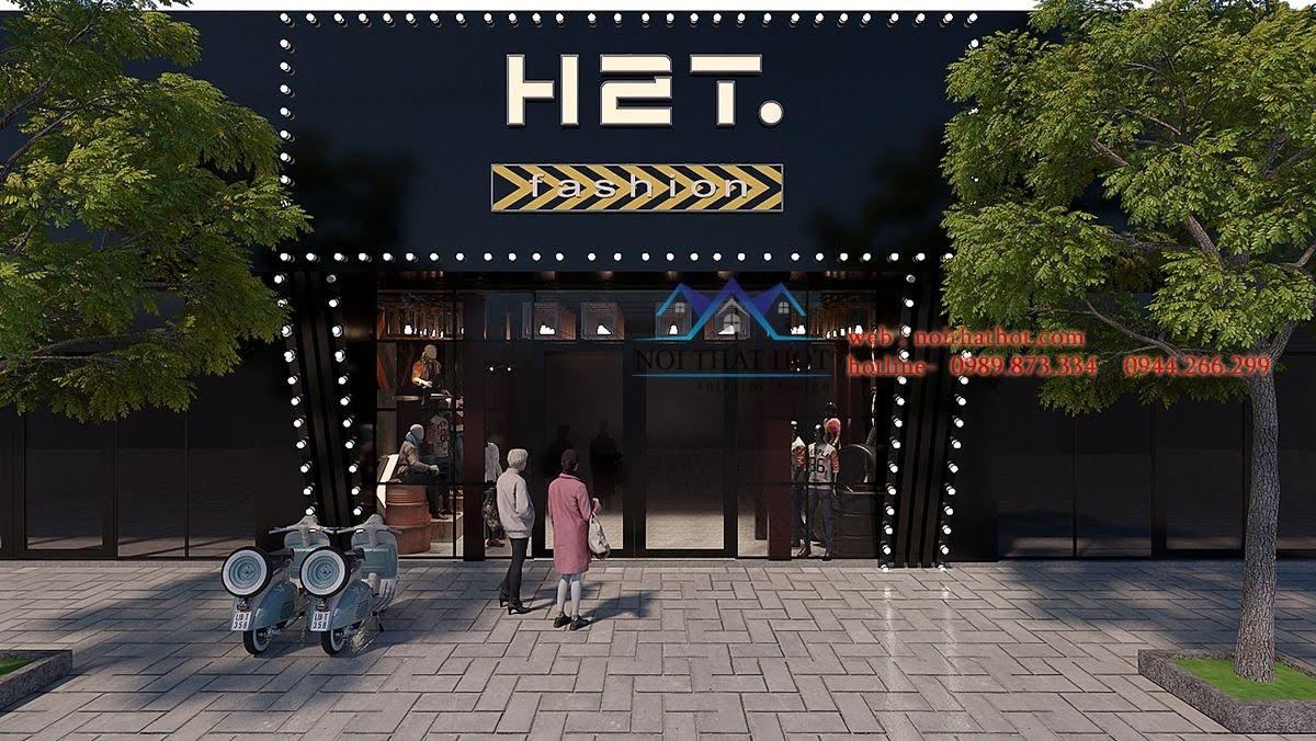 thiết kế shop thời trang nam h2t xuân thủy 1