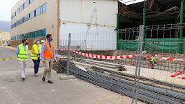 Visita del alcalde de El Ejido a las obras en marcha.