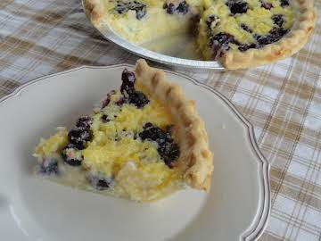 Pineapple Blueberry Chess Pie