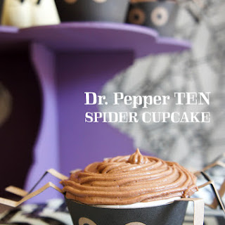Dr. Pepper TEN Spider Cupcakes