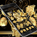 Gold Rose Black Business Theme icon
