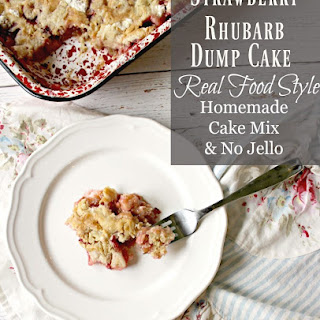Strawberry Rhubarb Dump Cake without Jello.