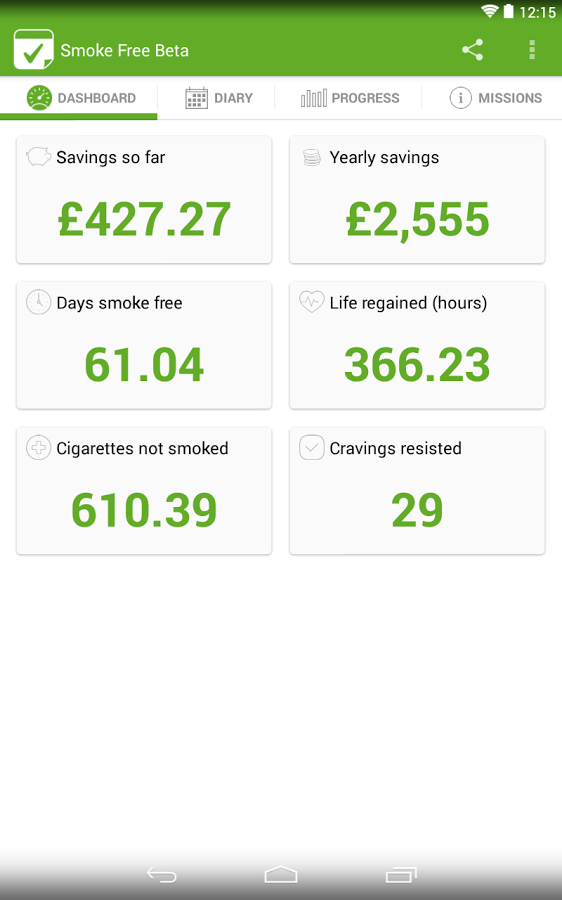 Smoke Free, stop smoking help- screenshot