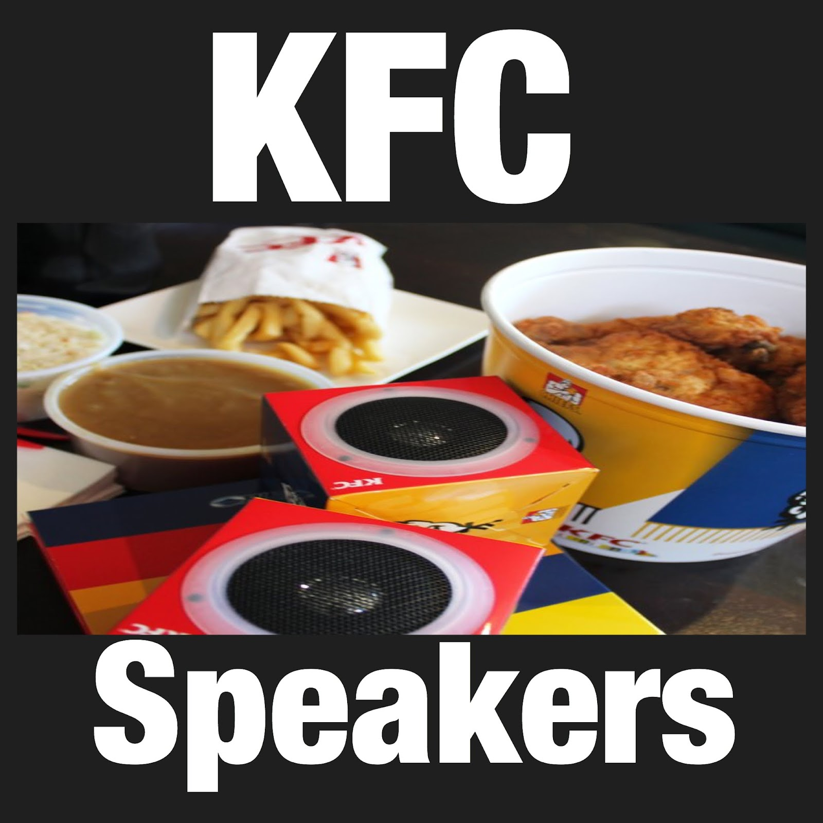 Image result for kfc box speakers