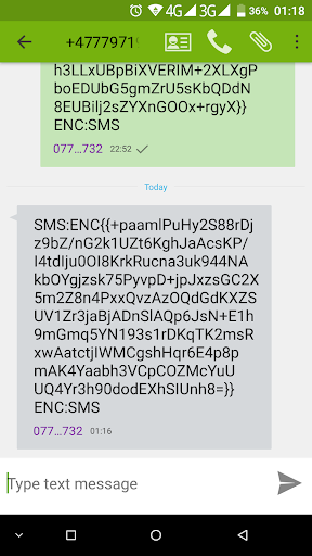 ESME - Secure your SMS.  screenshots 1