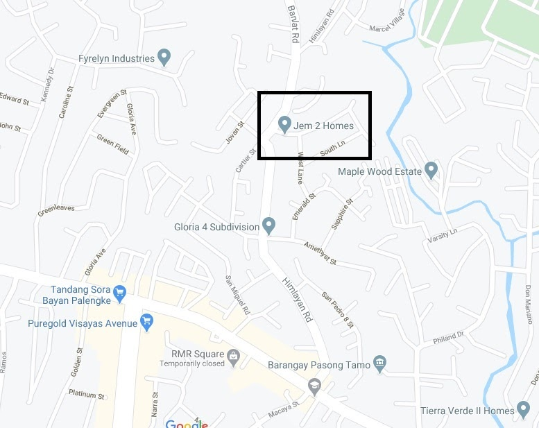 Corazon Project, Tandang Sora, Quezon City location map