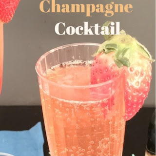 Strawberry Ginger Champagne Cocktail.