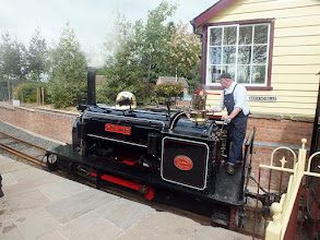"""Photo: 009 The first of several quarry Hunslet 0-4-0ST locos that we will meet today! Sybil Mary was classed as a """"large quarry"""" loco and was built new for the Penrhyn quarries in 1906 ."""