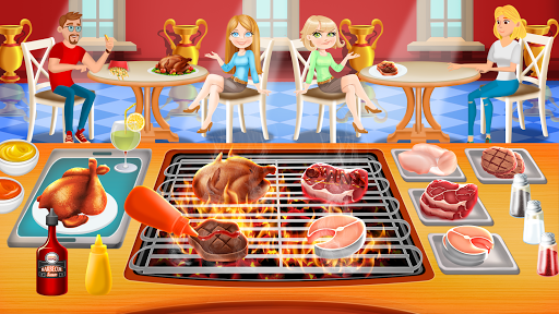 BBQ Restaurant Rush: Grill Food Cooking Stand android2mod screenshots 1