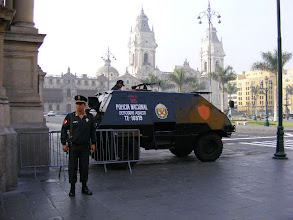Photo: Lots of military presence in Lima