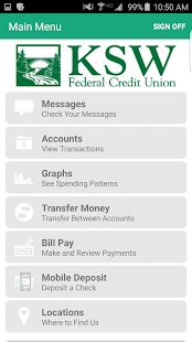 KSW FCU Mobile Banking- screenshot thumbnail