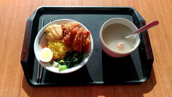 高雄前金 男飯 24小時營業的南洋風料理 薑黃雞湯飯味道濃郁