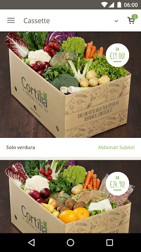 cassette verdura