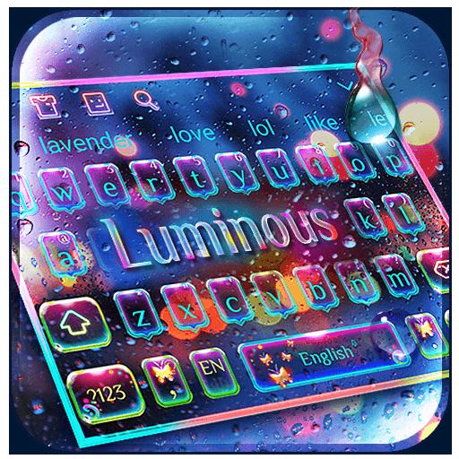 SMS Luminous Keyboard Theme