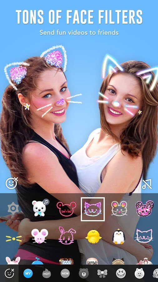 BOO! - Video chat camera with filters & stickers- screenshot