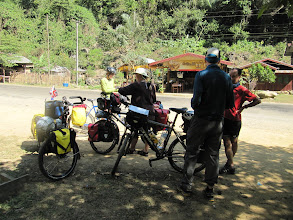 Photo: Day 302 - Judy, Dan & Bas on the Road to Vang Vieng