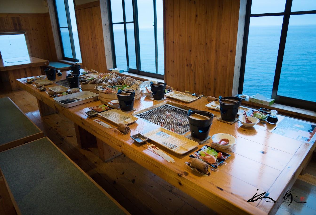 岩尾温泉宿・夕陽荘(せきようそう・増毛町)で海鮮炉端焼きを堪能