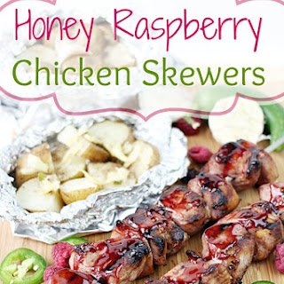 Honey Raspberry Chicken Skewers