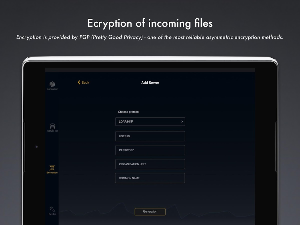 PGPFiles- screenshot