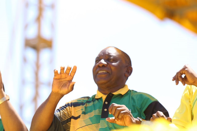 President Cyril Ramaphosa at the ANC January 8 statement celebrations. Picture: DAILY DISPATCH