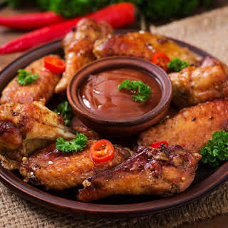 Pressure Cooker Sweet-Sour Chicken Wings.